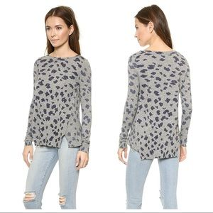 Rebecca Taylor Cheetah Leopard Cashmere Sweater